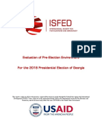 ISFED - Evaluation of Pre-Election Environment for 2018 Elections