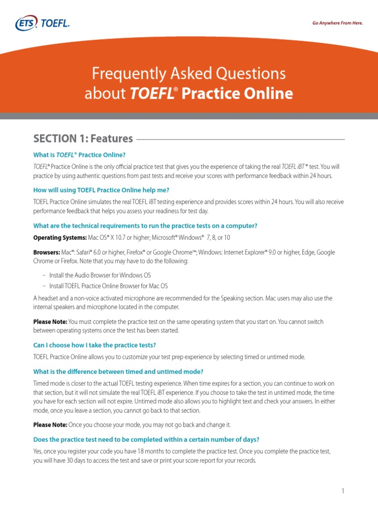 TOEFL Student Test Prep Planner | Test Of English As A Foreign