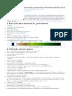 Cálculo Do Índice Vegetativo NDVI No Sistema de Informação Geográfica QGIS