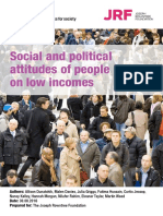 Social and Political Attitudes of People on Low Incomes