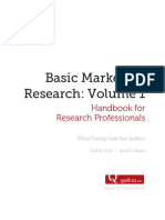 Basic Marketing Research Vol 1