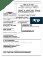 Hoja de Vida - Carlos a. Villafuerte M. 2018