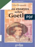 Benjamin, Walter - Dos Ensayos Sobre Goethe (1974)