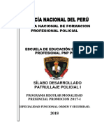 Silabo Desarrollado de Patrullaje Policial(Chiclayo9