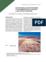 Machaca-Descripcion de Una Nueva Localidad Fosilifera de Jurasico Con Ammonites