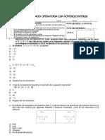 TALLER EVALUADO Operatoria Numeros Enteros 1 Medio (Final)