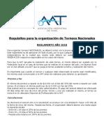 Requisitos Organizacion Nacionales 2018