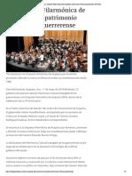 11-05-2018 La Orquesta Filarmónica de Acapulco, Patrimonio Cultural Guerrerense.