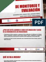 Plan de monitoreo y evaluación
