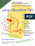 Early Education Fair Flyer
