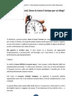Time Management - Dove Lo Trovo Il Tempo Per Un Blog