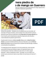 24-05-2018 Colocan Primera Piedra de Empacadora de Mango en Guerrero.