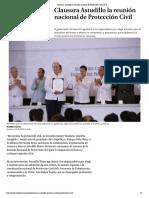 25-05-2018 Clausura Astudillo La Reunión Nacional de Protección Civil 2018.