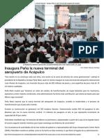 27-05-2018 Inaugura Peña La Nueva Terminal Del Aeropuerto de Acapulco.