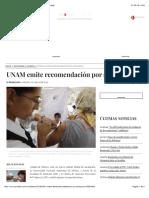 UNAM emite recomendación por sarampión - La Jornada