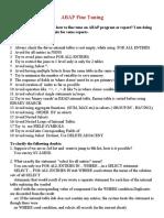 ABAP Fine Tuning