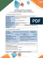 Guia de Actividades y Rúbrica de Evaluación - Paso 4 - Evaluación Financiera