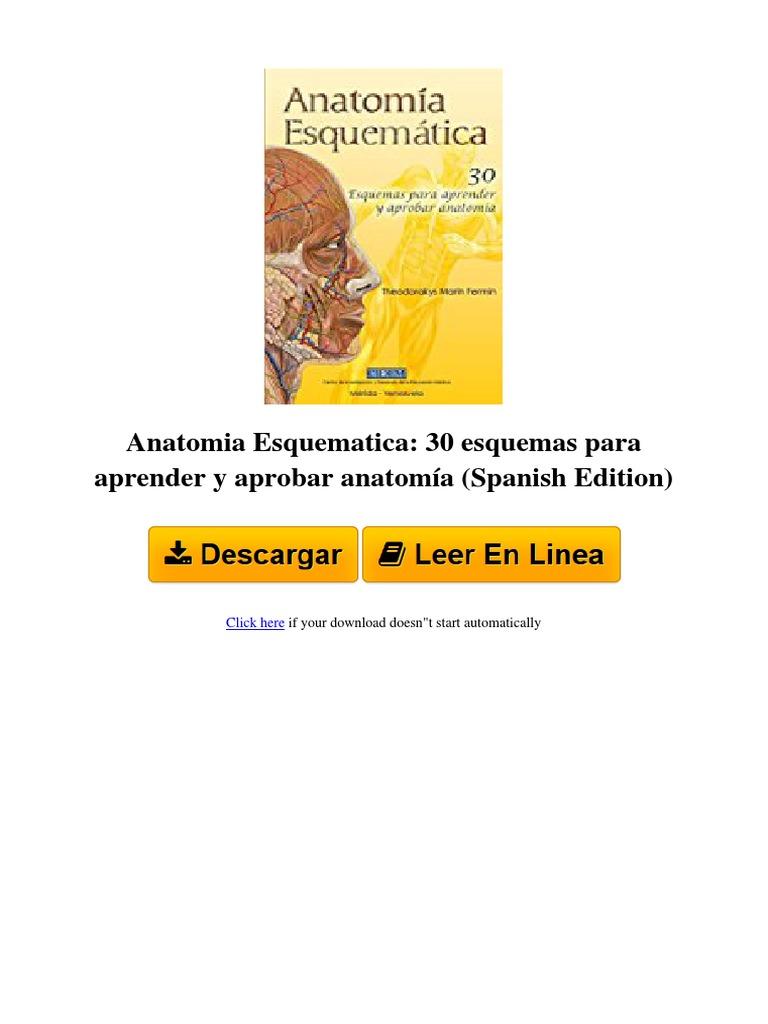 ⋙ Anatomia Esquematica_ 30 esquemas para aprender y aprobar ...