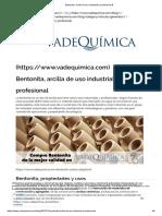 Bentonita, Arcilla de Uso Industrial y Profesional %