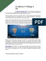 Bursa Taruhan Almeria vs Malaga 4 September 2018