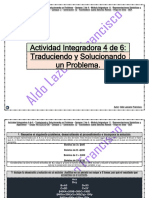 Actividad Integradora 4 de 6 - Traduciendo y Solucionando un Problema - Módulo 11 - Prepa en línea - SEP