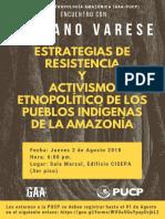 S. Varese ESTRATEGIAS DE RESISTENCIA Y ACTIVISMO ETNOPOLÍTICO DE LOS PUEBLOS INDÍGENAS DE LA AMAZONÍA