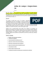 Guía de Pruebas de Campo e Inspecciones de Lubricación