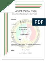 Evolución de La Deudad Externa y Su Incidencia en El Crecimiento Economico Ecuatoriano