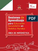 Sesiones de Aprendizaje Para Educación Secundaria en Ámbitos Rurales, Área de Matemática. 5to. Grado de Secundaria-1