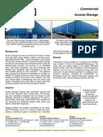 SolarWall Case Study - Access Storage (solar air heating system)