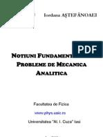 Daniel RADU Iordana ASTEFANOAEI Notiuni Fund Amen Tale Si Probleme de Mecanica Analitica