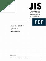 JSA JIS B 7502-2016
