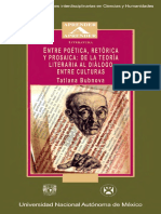 Bubnova Tatiana - Entre Poetica Retorica Y Prosaica de La Teoria Literaria Al Dialogo Entre Culturas