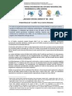 COMUNICADO OFICIAL ENFEN N° 08 - 2013