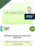 Ppt Seminar Kebijakan Kesehatan Nasional