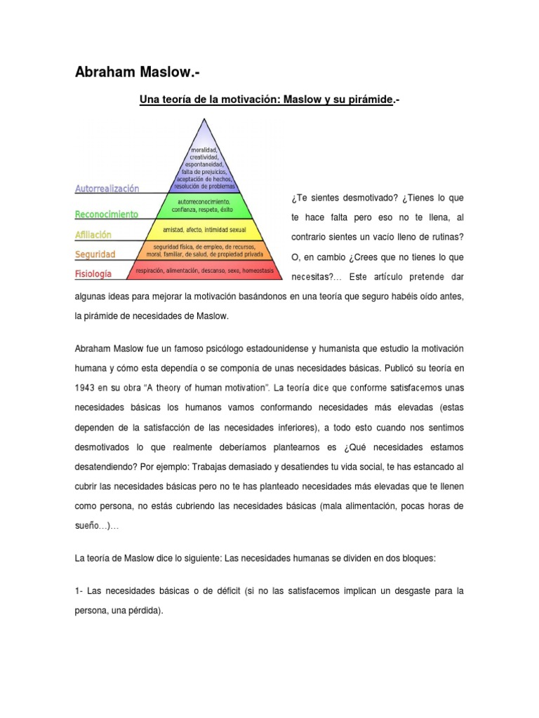 Teorias Motivacionales Relacionadas Con La Prevencion