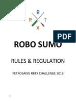Robo Sumo Rules & Regulation
