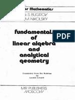 Fundamentals of linear algebra - Ya. S. Bugrov.pdf