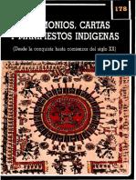 Testimonios, cartas y manifiestos indígenas (Desde la conquista hasta comienzos del siglo XX).pdf