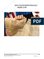 """How Judges Unconstitutionally """"Make Law"""", Litigation Tool #01.009"""