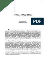 Susana Rotker, Crónica y cultura urbana. Caracas la última década.pdf