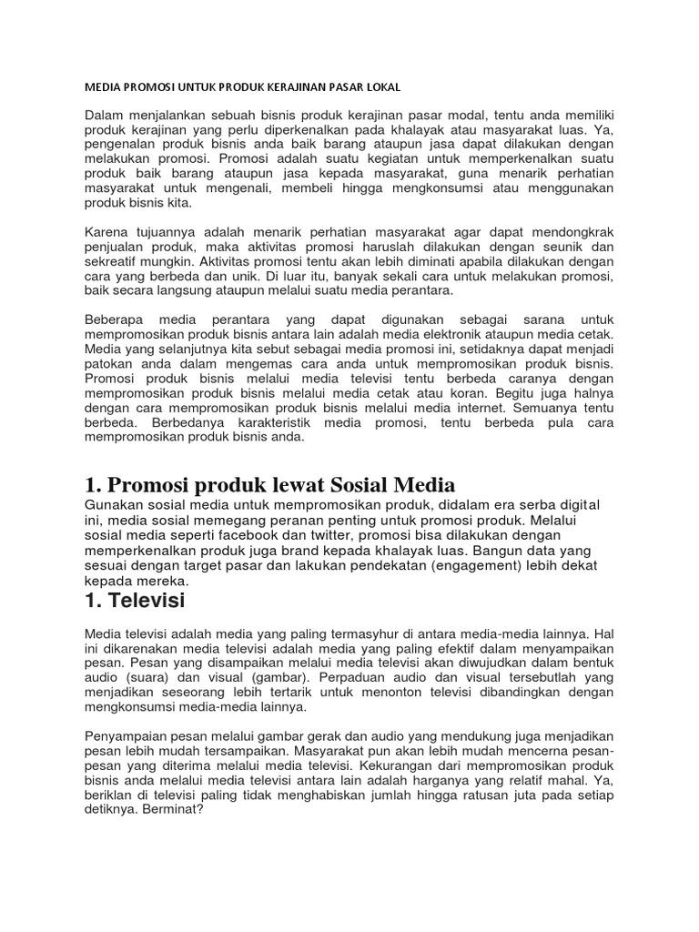 Jelaskan Mengenai Media Promosi Televisi Rajiman