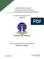 Download Soal Ujian UT PGPAUD PAUD4203 Evaluasi Perkembangan Anak TK