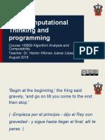 1 - 1 Computational Thinking and Programming