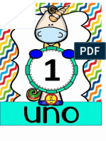 Tarjetas Dia de Las Semana Unicornios