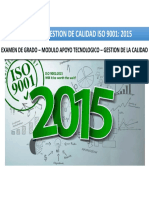 Cambios a Considerar en La Norma Iso 9001 Version 2015