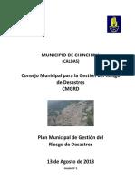 Plan Municipal de Gestion Del Riesgo de Desastres. Chinchina, Caldas