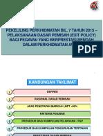 Slide Pembentangan Exit Policy