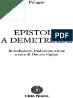 Epistola a Demetriade - Pelagio