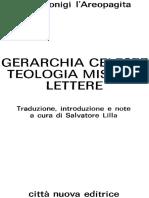 Gerarchia Celeste _ Teologia Mi - Pseudo Dionigi Areopagita
